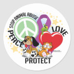 Stop Animal Abuse PLP Stickers