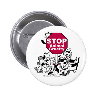 Stop Animal Cruelty Pinback Buttons
