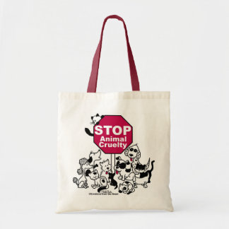 Stop Animal Cruelty Budget Tote Bag