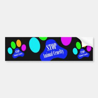 Stop Animal Cruelty Bumper Sticker (black)