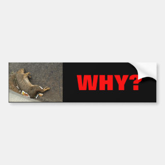 STOP ANIMAL SLAUGHTER ON THE ROAD BUMPER STICKER