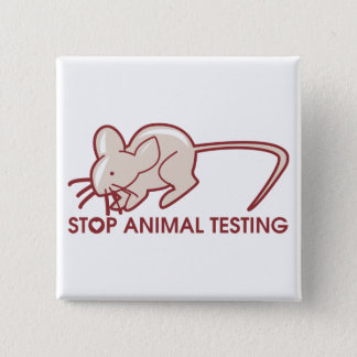 Stop Animal Testing 15 Cm Square Badge