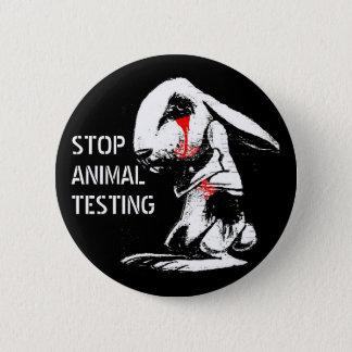 STOP ANIMAL TESTING 6 CM ROUND BADGE