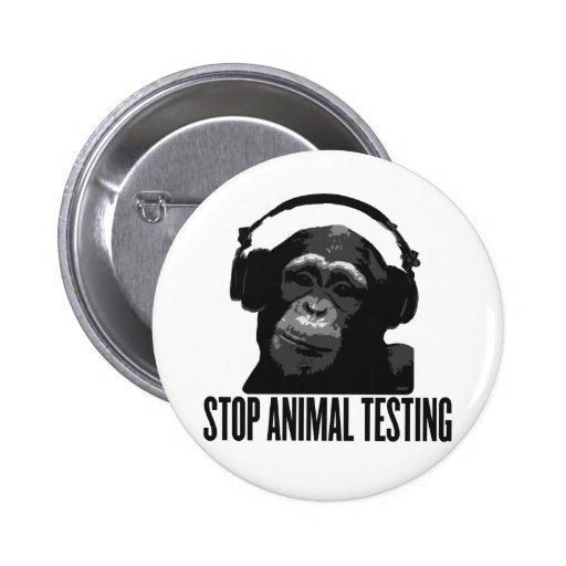 stop animal testing pinback buttons
