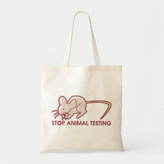 Stop Animal Testing Budget Tote Bag