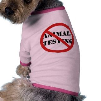 stop animal testing doggie tee