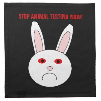 Stop Animal Testing Now Napkin