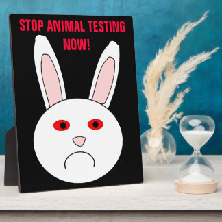 Stop Animal Testing Now Plaque
