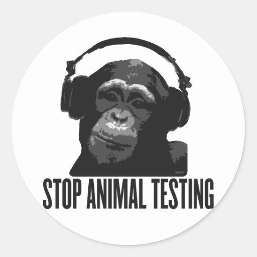 stop animal testing sticker