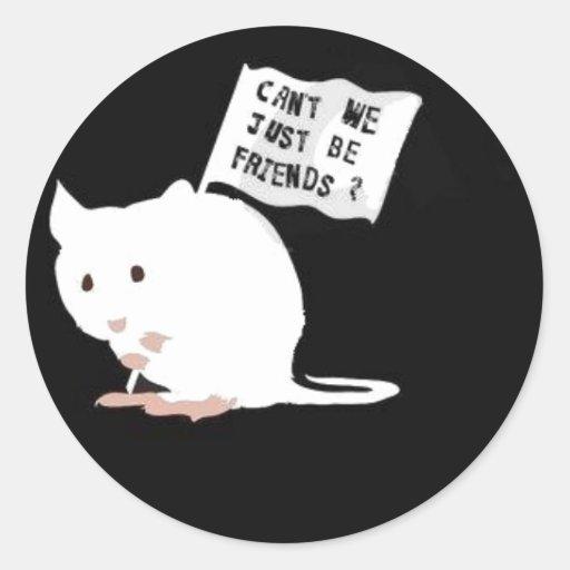 Stop Animal Testing! Round Sticker