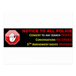 STOP - ASSERT YOUR CONSTITUTIONAL RIGHTS POSTCARD