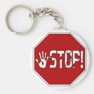 Stop! Band Logo Keychain