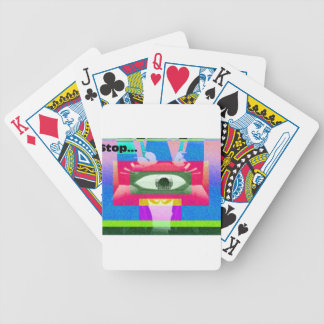 Stop Bicycle Poker Cards