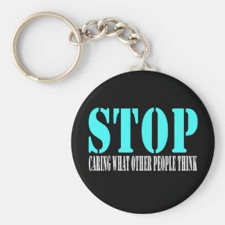 Stop Black KeyChain