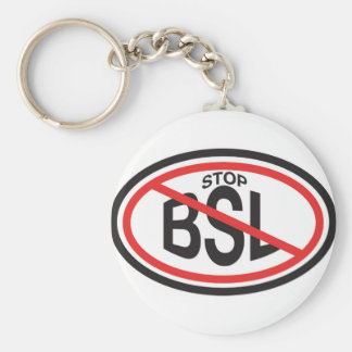 STOP Breed Specific Legislation Basic Round Button Key Ring