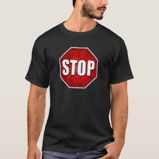 STOP! Bright Bold Red Stop Sign Zen Art/Design T-Shirt