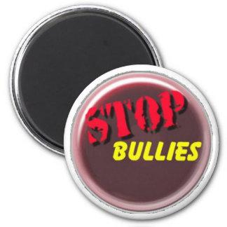 stop bullies logo 6 cm round magnet