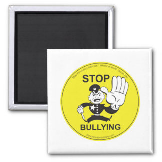 Stop Bullying Gifts Square Magnet