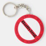 Stop Bullying-Logo Basic Round Button Key Ring