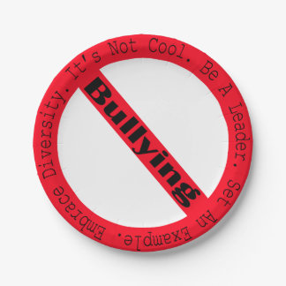 Stop Bullying-Logo by Shirley Taylor 7 Inch Paper Plate