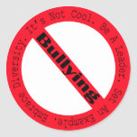 Stop Bullying-Logo by Shirley Taylor Round Sticker