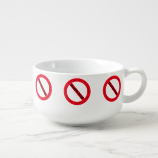 Stop Bullying-Logo by Shirley Taylor Soup Bowl With Handle