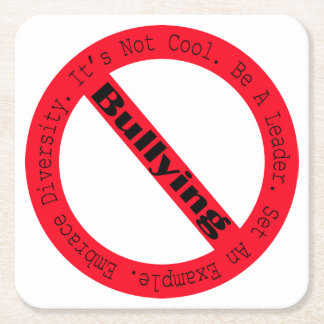 Stop Bullying-Logo by Shirley Taylor Square Paper Coaster