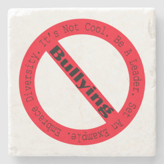 Stop Bullying-Logo by Shirley Taylor Stone Beverage Coaster