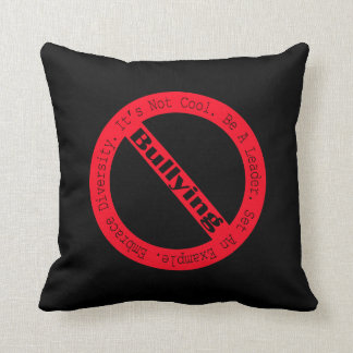 Stop Bullying-Logo by Shirley Taylor Throw Pillow