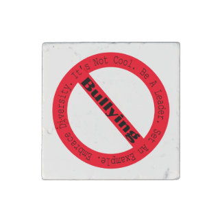 Stop Bullying-Logo Stone Magnet