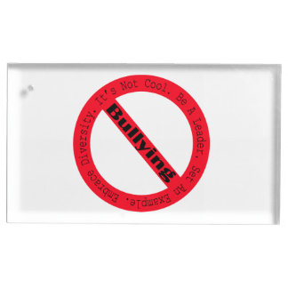 Stop Bullying-Logo Table Card Holders