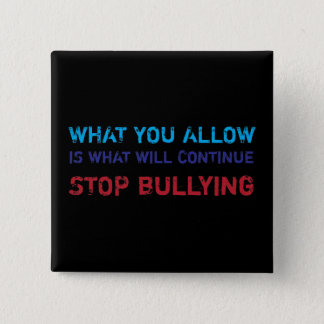Stop Bullying No Bullying Against Bullying 15 Cm Square Badge