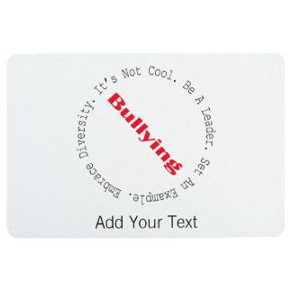 Stop Bullying-Outline by Shirley Taylor Floor Mat