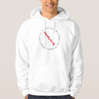 Stop Bullying-Outline by Shirley Taylor Hoodies