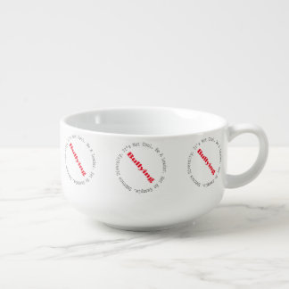 Stop Bullying-Outline by Shirley Taylor Soup Bowl With Handle