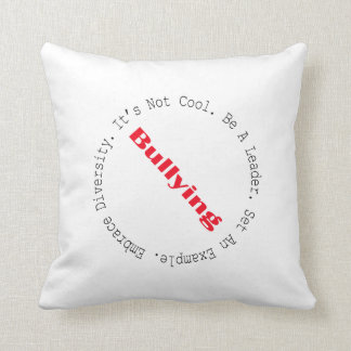 Stop Bullying-Outline Throw Pillows