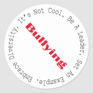 Stop Bullying-Outline Round Sticker