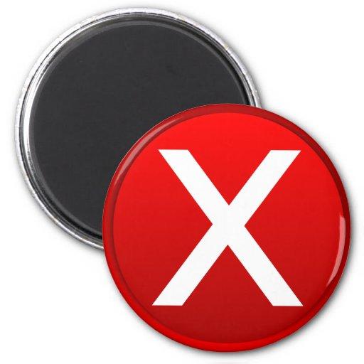 Stop Button Fridge Magnet
