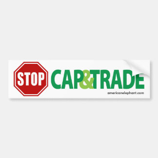 Stop Cap And Trade Bumper Sticker