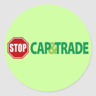 Stop Cap And Trade Round Sticker