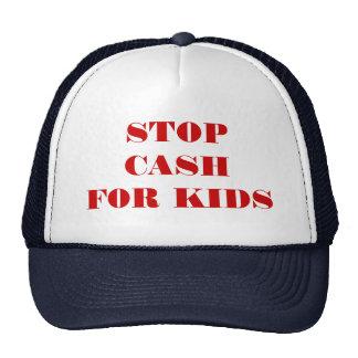 STOP CASH FOR KIDS TRUCKER HATS