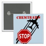 Stop chemtrails 15 cm square badge