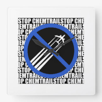 Stop Chemtrails! Wall Clock
