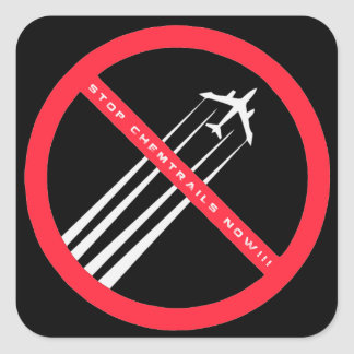 STOP CHEMTRAILS NOW Awesome Stickers