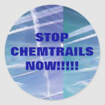 Stop Chemtrails Now!! Sticker