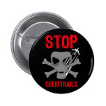 STOP CHEMTRAILS PINBACK BUTTON