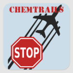 Stop chemtrails square stickers