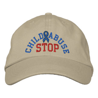 STOP CHILD ABUSE Cap by SRF Embroidered Baseball Caps