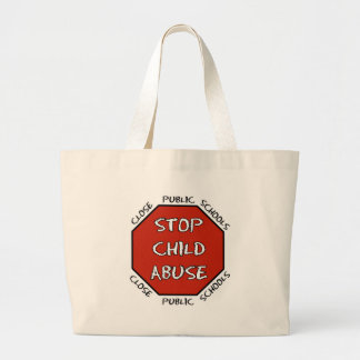 Stop Child Abuse Large Tote Bag
