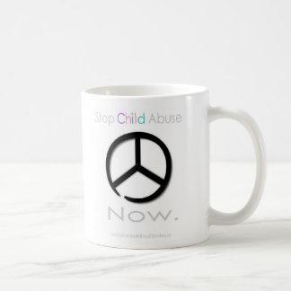 Stop Child Abuse Now Basic White Mug
